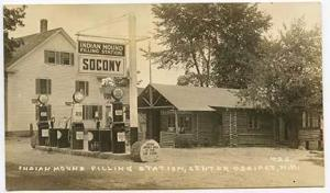 Center Ossipee NH Street View Socony Gas RPPC Postcard