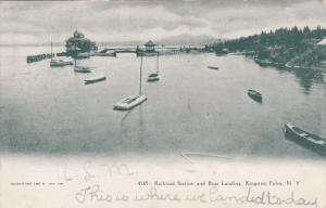 KINGSTON POINT, New York; Railroad Station and Boat Landing, 00-10s