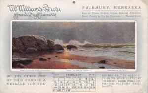 Fairbury NE~McWilliams French Dry Cleaners~Calm Night~Feb 1911 Lamasure Postcard