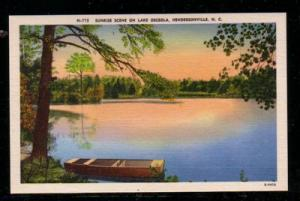 North Carolina colour PC Sunrise Lake Osceola Hendersonville unused