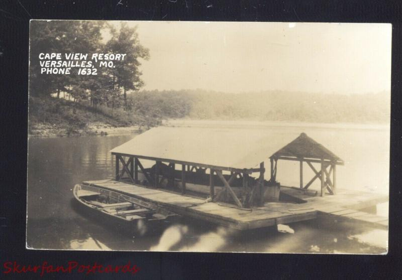 RPPC VERSAILLES MISSOURI CAPE VIEW RESORT VINTAGE MO. REAL PHOTO POSTCARD