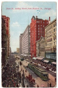 Chicago, State St., looking North from Madison St.