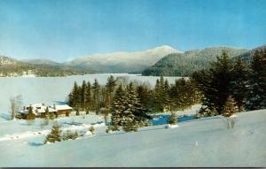 New York Adirondacks Lake Placid & Whiteface Mountain In Winter