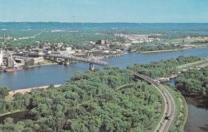 La Crosse Wisconsin 1960s Bridge USA American Highways Postcard