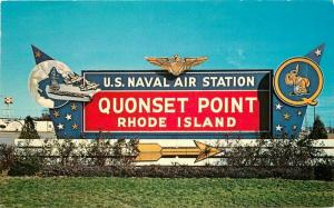 1950s Quonset Point Rhode Island Military Base US Navy Air Station Postcard 6005