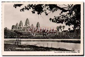 Postcard Modern Vue Generale Du Temple D & # 39Angkor Wat Cambodia