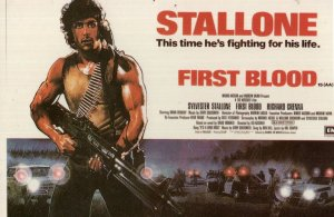 Sylvester Stallone First Blood Movie Poster Postcard