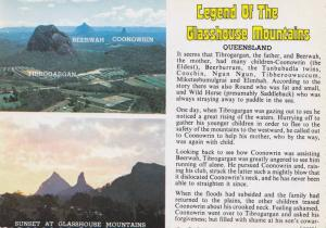 Legend of the Glasshouse Mountains, Queensland, Australia, 50-70´s