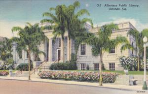 ORLANDO, Florida; Albertson Public Library, 30-40s