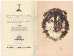 Alaska Line, S. S. BARANOF, June 20, 1949; Dinner Menu, Rye