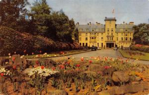 Perthshire United Kingdom~Gleneagles Hotel Flower Gardens~Postcard 1950s