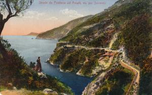 Strada Da Positano Ad Amalfi, Via Per SORRENTO, Italy, 1900-1910s