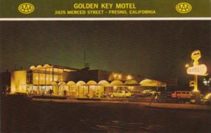 California Fresno The Golden Key Motel At Night