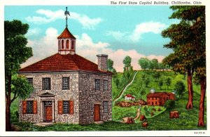 Ohio Chillicothe The First State Capitol Building Curteich