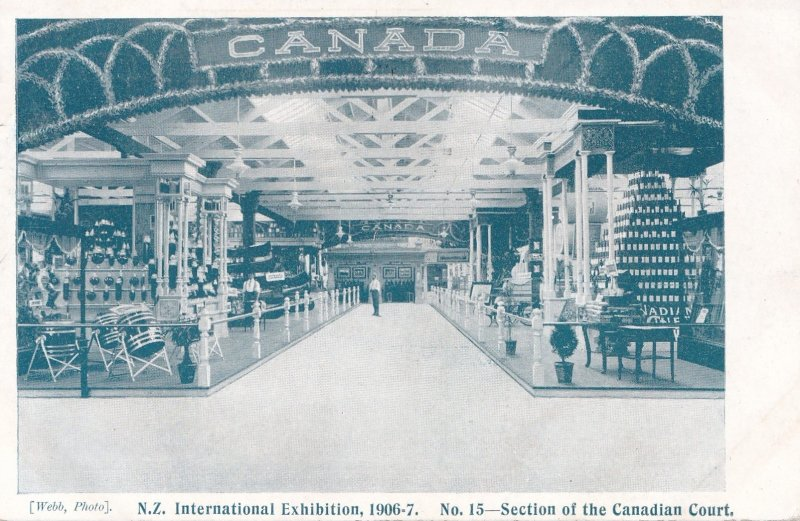 N.Z. International Exhibition, 1906-7 ; Canada Pavilion Interior, PU-1906