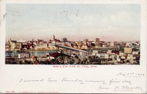 Birdseye St. Paul MN Minnesota c1906 Postcard F14