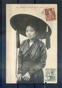 INDOCHINA - TONKIN - Traditional costumes of Vietnamese women 1900's