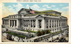 NY - New York City. Public Library    (stain on card)