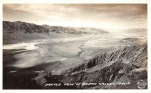RPPC Dantes View of Death Valley, CA Frashers c1940s Vintage Postcard