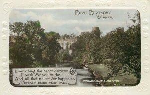 Postcard Greetings birthday castle river