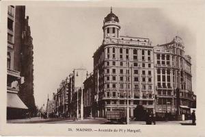 Spain Madrid Avenida de Pi y Margall Real Photo
