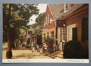 Duke of Gloucester Street, Williamsburg, Virginia Postcard