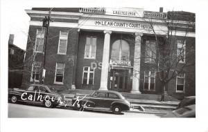 A46/ Calhoun Kentucky Ky Real Photo RPPC Postcard McLean County Court House