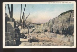 BEDFORD INDIANA INDIANA QUARRIES COMPANY MINING VINTAGE POSTCARD QUARRY