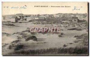 Old Postcard Fort Mahon Panorama Dunes
