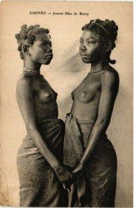 PC CPA ETHNIC NUDE FEMALE BENTY TYPE GIRL GUINEA Vintage Postcard (b622)