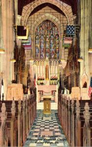 Pennsylvania Valley Forge Washington Memorial Chapel Interior Curteich