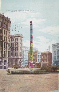 SEATTLE, Washington, PU-1910; Pioneer Square And The Totem Pole