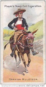 Player Vintage Cigarette Card Riders Of The World 1905 No 13 Spanish Muleteer