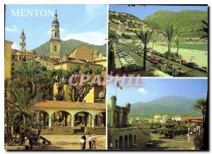 Modern Postcard The French Riviera Menton Alpes Maritimes