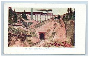 c. 1905 Tunnel Under the Loop Moffat Line Colorado CO Postcard