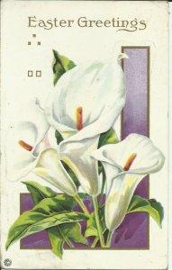 Easter Greetings--- Series 75 f-- EMBOSSED