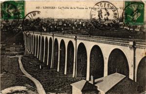 CPA LIMOGES - a Vallée de la VIENNE au Viaduc et panorama sur la Ville (293891)