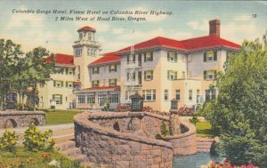 HOOD RIVER, Oregon, 1930-40s; Columbia Gorge Hotel, COLUMBIA RIVER HIGHWAY