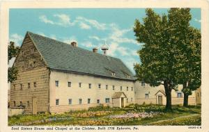 Ephrata Pennsylvania~Saal Sisters House & Chapel at the Cloister 1950s