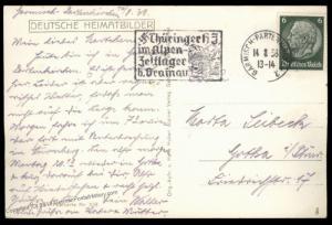 3rd Reich Germany Hitler Jugend Youth Thueringer Alpenlager Camp Cancel Ga 85930