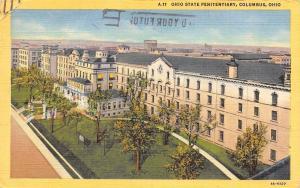 Columbus Ohio~Ohio State Penitentiary~1952 Postcard