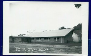 Oconto Wisconsin wi Gospel Chapel Real Photo Postcard RPPC
