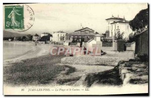 Old Postcard Juan les Pins The Beach and the Casino