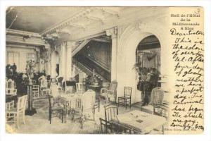 Hall de l'Hotel de la Meditterranee a Nice , France, PU-1905
