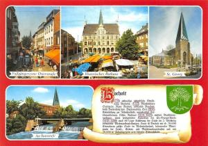 Bocholt St Georg Kirche Historisches Rathaus Fussgaengerzone Au Staustufe