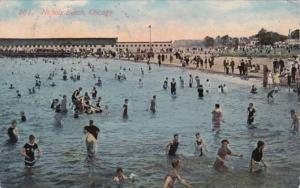 Illinois Chicago Scene At Nichols Beach 1913