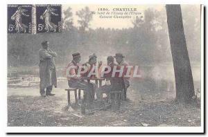 Chaville Old Postcard Along the & # 39etang of Cabaret & # 39Ursine Champetre...