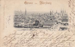 Gruss aus Wurzburg , Bavaria, Germany , PU-1897