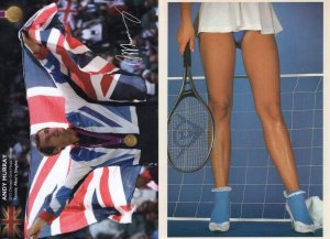 Andy Murray Facimile Signed Photo & Sexy Tennis Legs Postcard