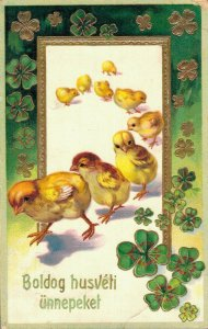 Happy Easter - Chicks Embossed Baby Chicks 04.57